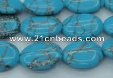 CTU202 16 inches 15*20mm oval imitation turquoise beads wholesale