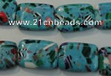CTU2028 15.5 inches 13*18mm rectangle synthetic turquoise beads