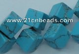 CTU206 16 inches 12*12mm cube imitation turquoise beads wholesale