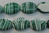 CTU2063 15.5 inches 18*25mm oval synthetic turquoise beads