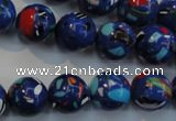 CTU2074 15.5 inches 12mm round synthetic turquoise beads