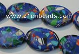 CTU2092 15.5 inches 15*20mm oval synthetic turquoise beads