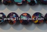CTU2115 15.5 inches 14mm round synthetic turquoise beads