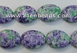 CTU2170 15.5 inches 12*16mm oval synthetic turquoise beads