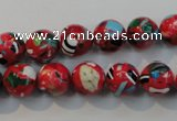 CTU2183 15.5 inches 10mm round synthetic turquoise beads