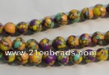 CTU2321 15.5 inches 6mm round synthetic turquoise beads