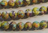 CTU2322 15.5 inches 8mm round synthetic turquoise beads