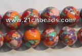 CTU2345 15.5 inches 14mm round synthetic turquoise beads