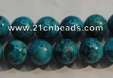 CTU2414 15.5 inches 12mm round synthetic turquoise beads