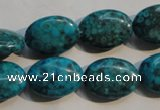 CTU2425 15.5 inches 13*18mm oval synthetic turquoise beads