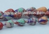 CTU244 16 inches 8*12mm teardrop imitation turquoise beads wholesale