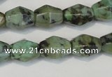 CTU2466 15.5 inches 7*8mm faceted rice African turquoise beads wholesale
