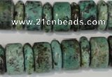 CTU2470 15.5 inches 5*16mm & 10*16mm rondelle African turquoise beads