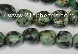 CTU2472 15.5 inches 12*13mm nuggets African turquoise beads wholesale