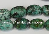 CTU2473 15.5 inches 13*18mm nuggets African turquoise beads wholesale