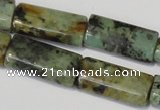 CTU2481 15.5 inches 8*16mm flat tube African turquoise beads wholesale