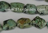 CTU2482 15.5 inches 12*16mm - 13*18mm freeform African turquoise beads