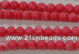 CTU2610 15.5 inches 4mm round synthetic turquoise beads