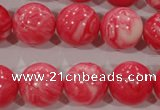 CTU2616 15.5 inches 16mm round synthetic turquoise beads