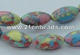 CTU262 16 inches 10*20mm rice imitation turquoise beads wholesale