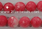 CTU2625 15.5 inches 14mm faceted round synthetic turquoise beads