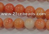 CTU2633 15.5 inches 8mm round synthetic turquoise beads