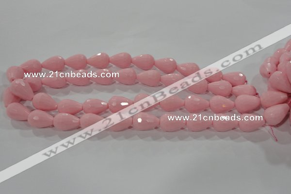 CTU2705 15.5 inches 13*18mm faceted teardrop synthetic turquoise beads