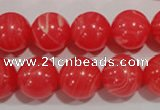 CTU2735 15.5 inches 14mm round synthetic turquoise beads