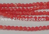 CTU2740 15.5 inches 4mm faceted round synthetic turquoise beads