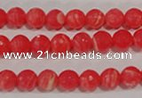 CTU2742 15.5 inches 8mm faceted round synthetic turquoise beads