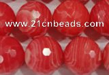 CTU2748 15.5 inches 20mm faceted round synthetic turquoise beads