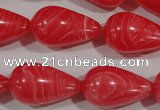 CTU2758 15.5 inches 15*25mm teardrop synthetic turquoise beads