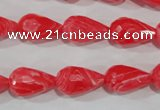 CTU2760 15.5 inches 10*16mm faceted teardrop synthetic turquoise beads