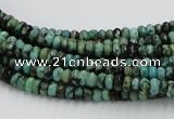 CTU404 15.5 inches 2*4mm rondelle African turquoise beads wholesale