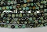 CTU480 15.5 inches 4mm round African turquoise beads wholesale