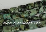 CTU494 15.5 inches 8*10mm rectangle African turquoise beads wholesale