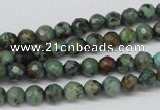 CTU551 15.5 inches 6mm faceted round African turquoise beads