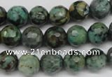 CTU553 15.5 inches 10mm faceted round African turquoise beads