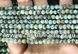 CTU570 15.5 inches 4mm round african turquoise beads wholesale