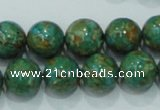 CTU606 15.5 inches 14mm round synthetic turquoise beads wholesale