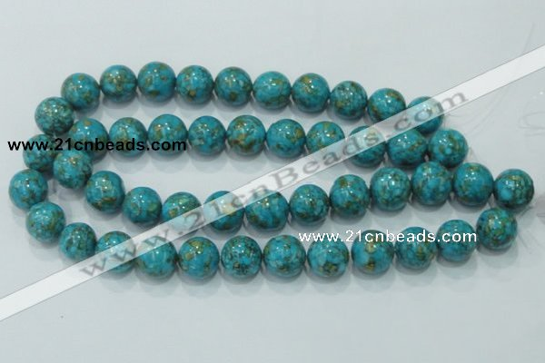 CTU610 15.5 inches 18mm round synthetic turquoise beads wholesale