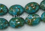 CTU620 15.5 inches 15*20mm oval synthetic turquoise beads wholesale