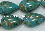CTU626 15.5 inches 16*25mm teardrop synthetic turquoise beads