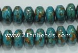 CTU641 15.5 inches 8*12mm rondelle synthetic turquoise beads wholesale