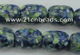 CTU652 15.5 inches 15*20mm drum synthetic turquoise beads wholesale