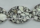 CTU671 15.5 inches 22*30mm oval synthetic turquoise beads wholesale