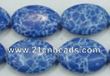 CTU678 15.5 inches 18*25mm oval synthetic turquoise beads wholesale