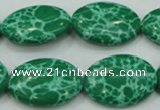 CTU681 15.5 inches 18*25mm oval synthetic turquoise beads wholesale