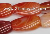 CTW117 15.5 inches 15*30mm twisted rectangle agate gemstone beads