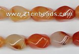 CTW160 15.5 inches 10*15mm twisted rice agate gemstone beads